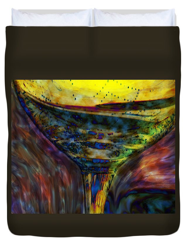 Glass Duvet Cover featuring the photograph Cheers by Ian MacDonald