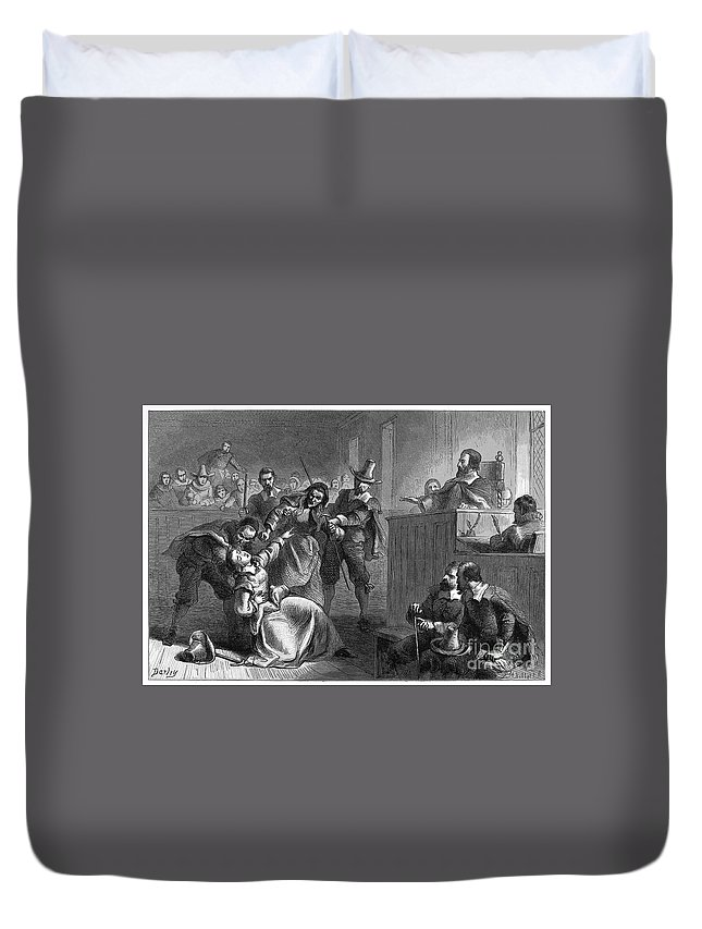 1677 Duvet Cover featuring the photograph Cheesmans Wife, 1677 by Granger