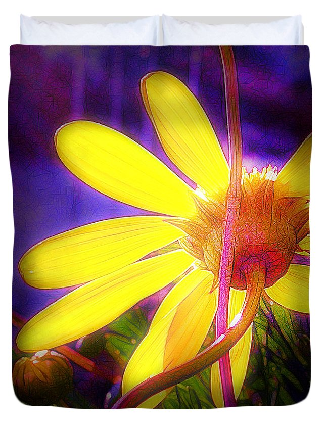 Sunflower Duvet Cover featuring the photograph Cherished by Judi Bagwell