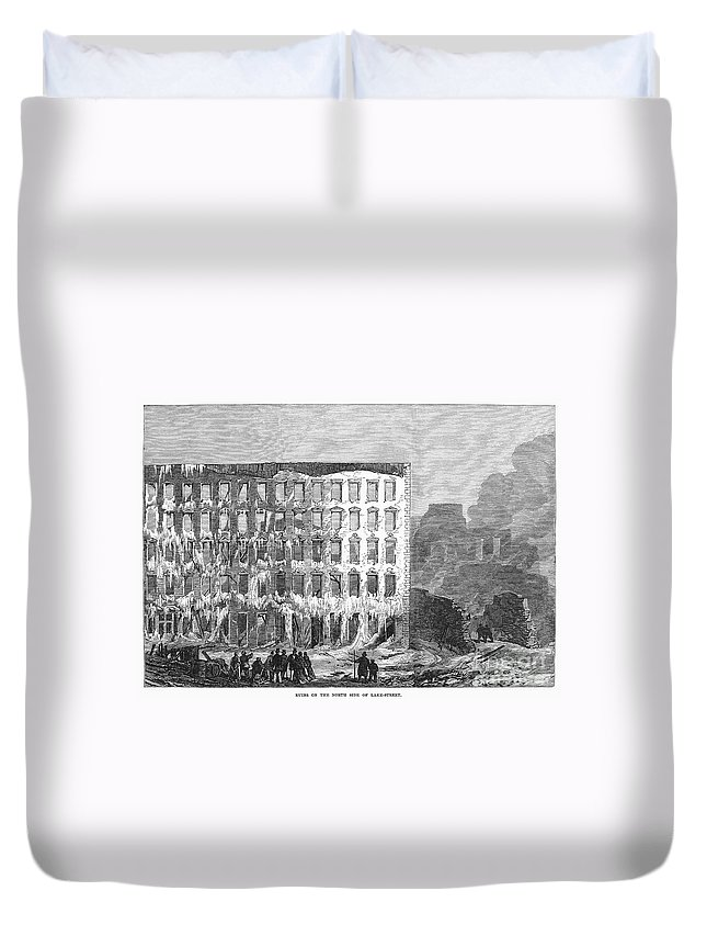 1868 Duvet Cover featuring the photograph Chicago: Fire, 1868 by Granger