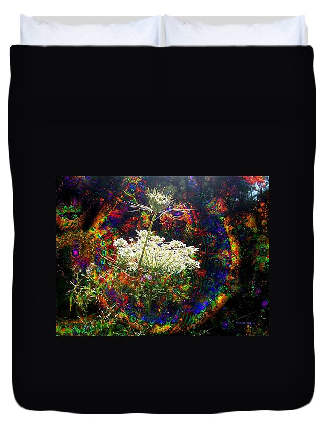 Dreamy Duvet Cover featuring the digital art Childhood Dreams by Robert Orinski