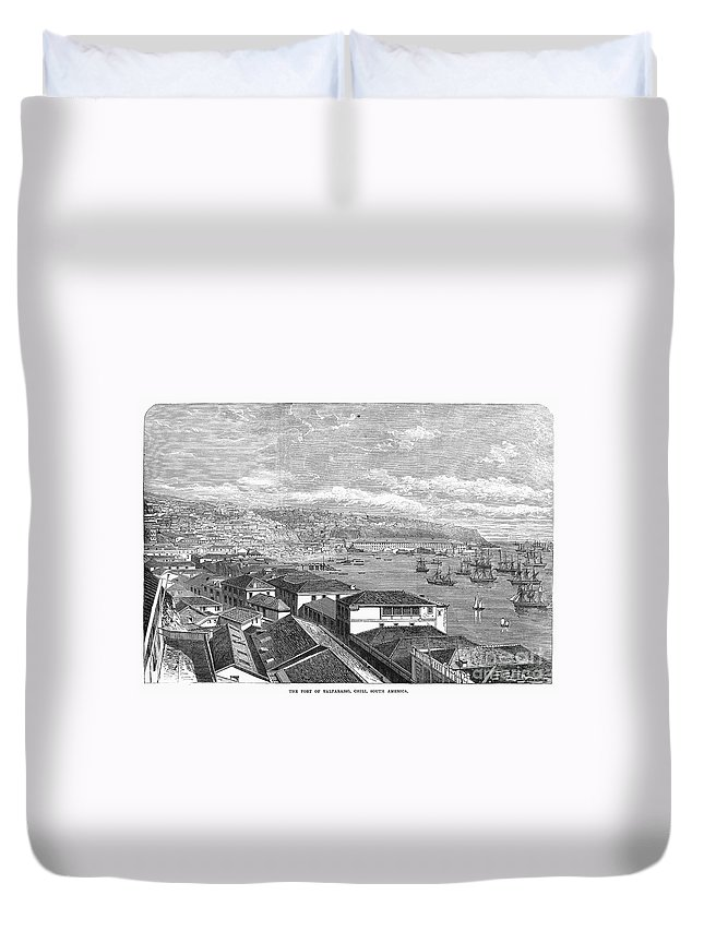 1865 Duvet Cover featuring the photograph Chile: Valparaiso, 1865 by Granger