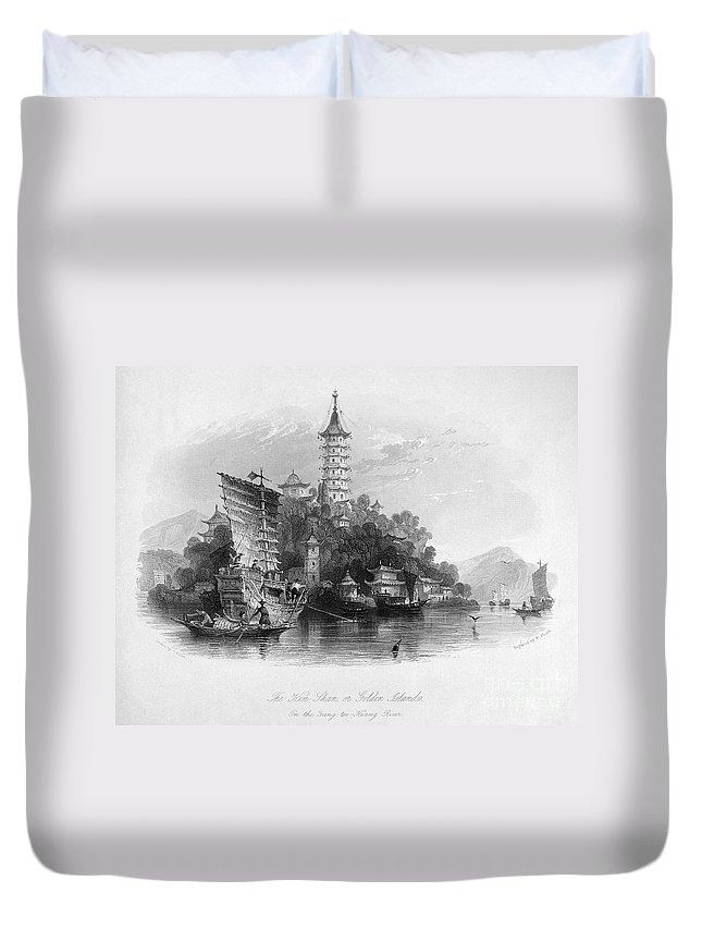 1843 Duvet Cover featuring the photograph China: Golden Island, 1843 by Granger
