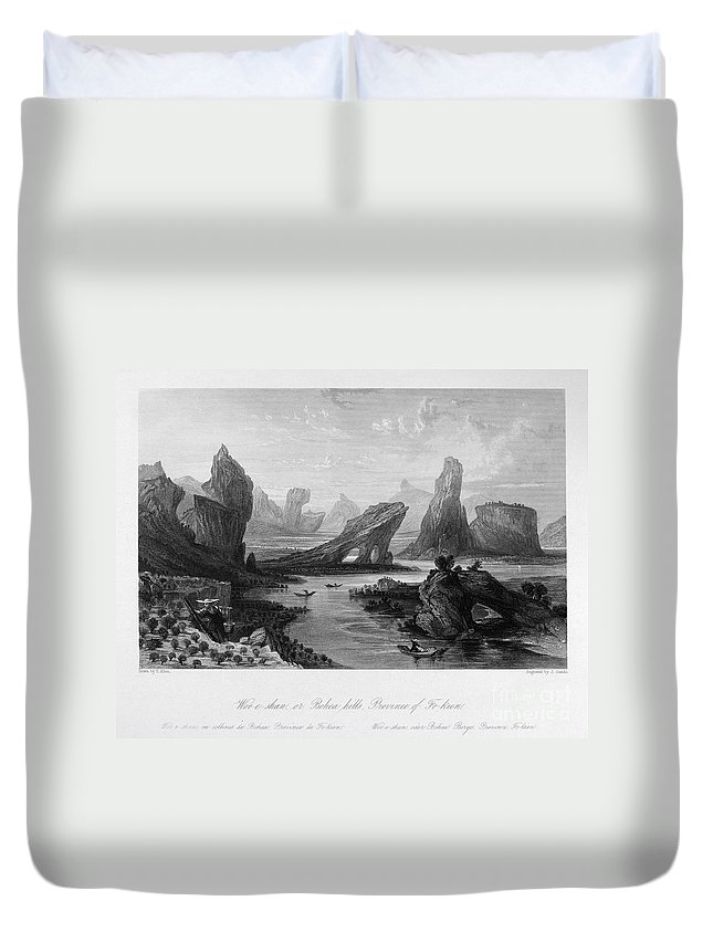 1843 Duvet Cover featuring the photograph China: Wuyi Shan, 1843 by Granger