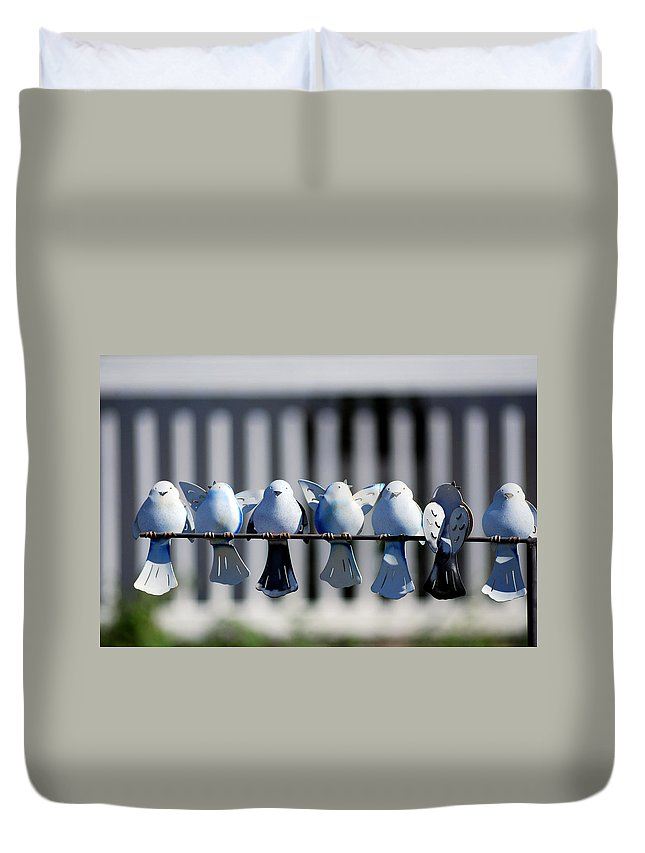 Roy Williams Duvet Cover featuring the photograph Chirp Chirp Chirp by Roy Williams