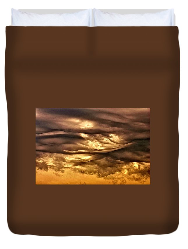 Clouds Duvet Cover featuring the photograph Chocolate Sky by One Rude Dawg Orcutt