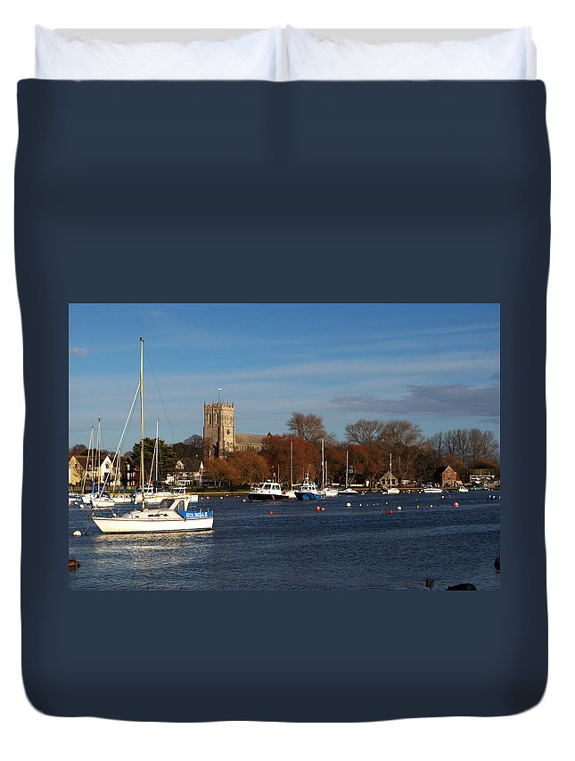 Christchurch Duvet Cover featuring the photograph Christchurch by Chris Day