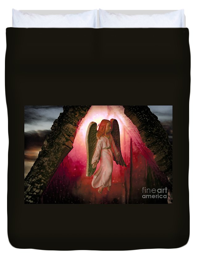 Angel Duvet Cover featuring the photograph Christmas Angel by David Arment