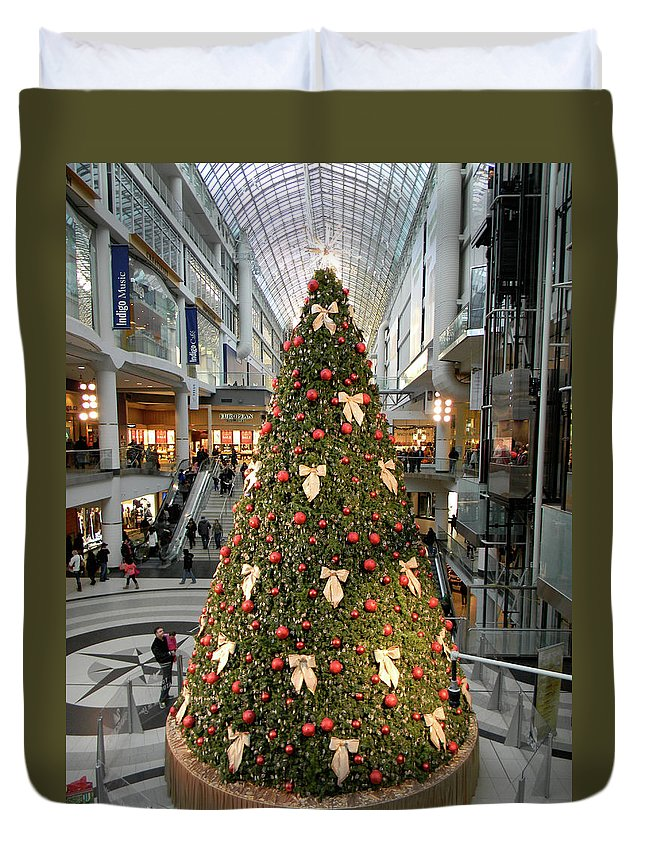 Christmas Duvet Cover featuring the photograph Christmas At The Eaton's Centre by Marwan George Khoury