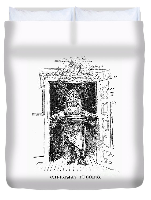 1882 Duvet Cover featuring the photograph Christmas Pudding, 1882 by Granger