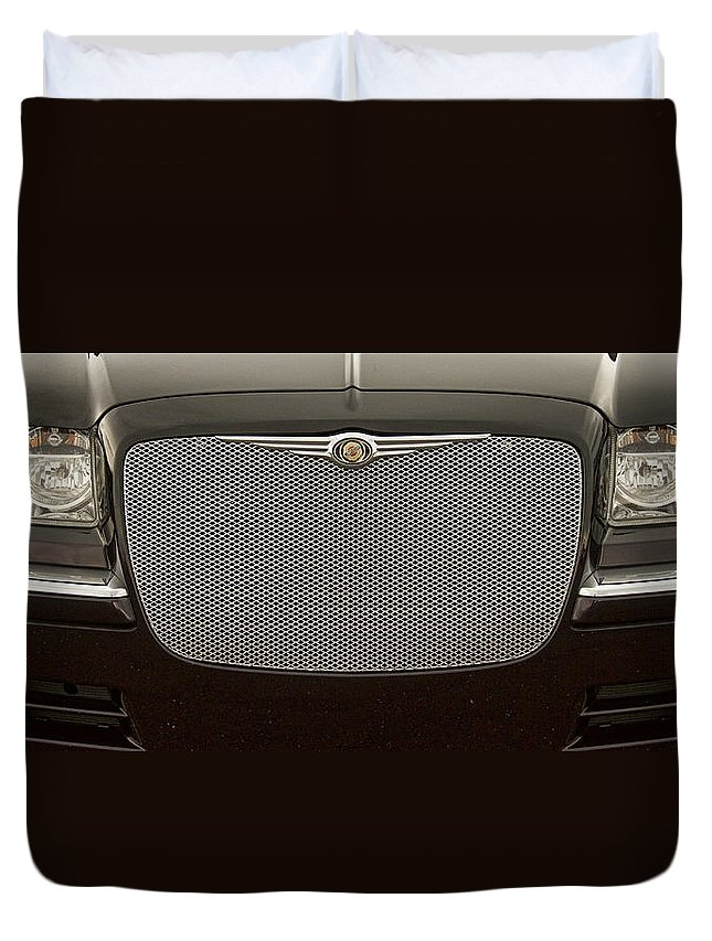 Car Duvet Cover featuring the photograph Chrysler by James BO Insogna