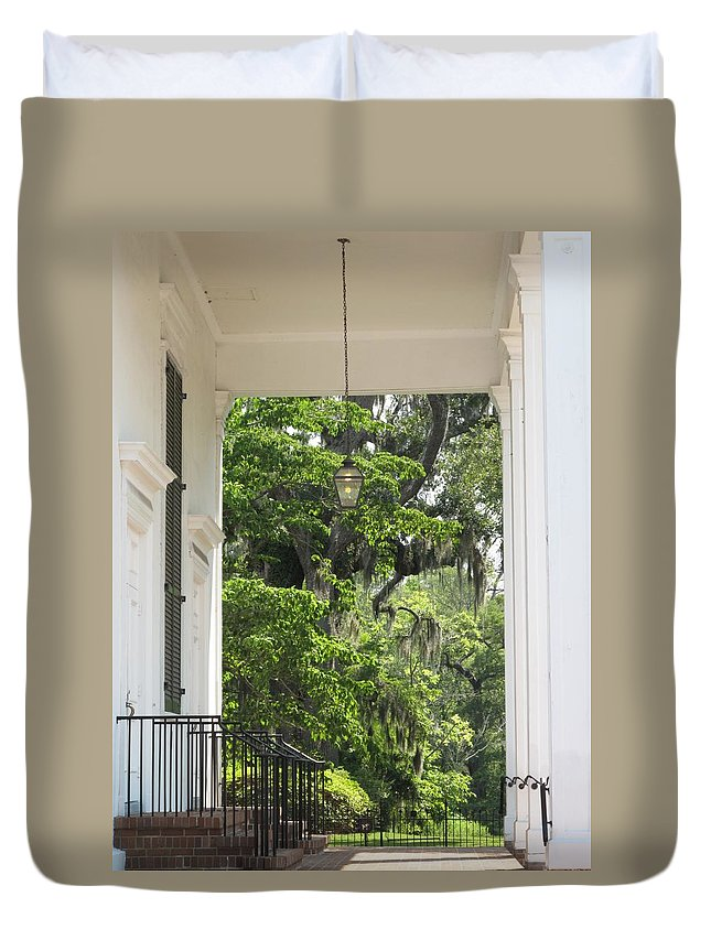 Church Duvet Cover featuring the photograph Church Entrance by Michele Nelson