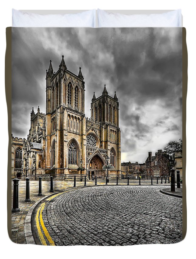 Hdr Duvet Cover featuring the photograph Church Of England by Adrian Evans