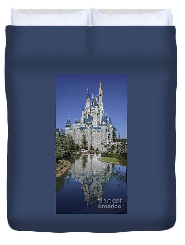 Disney World Duvet Cover featuring the photograph Cinderella's Castle by Tim Mulina