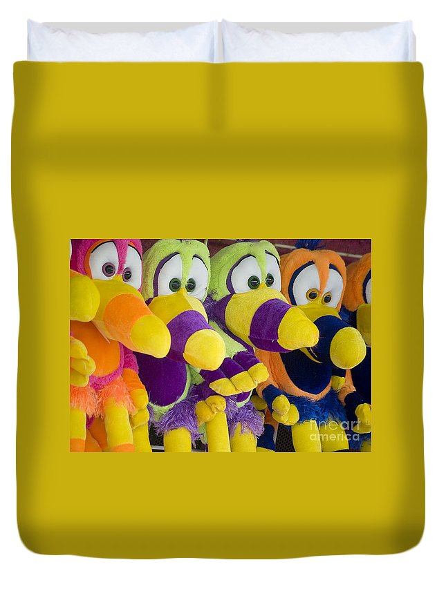 Stuffed Animal Duvet Cover featuring the photograph Circus Animals by Jim And Emily Bush