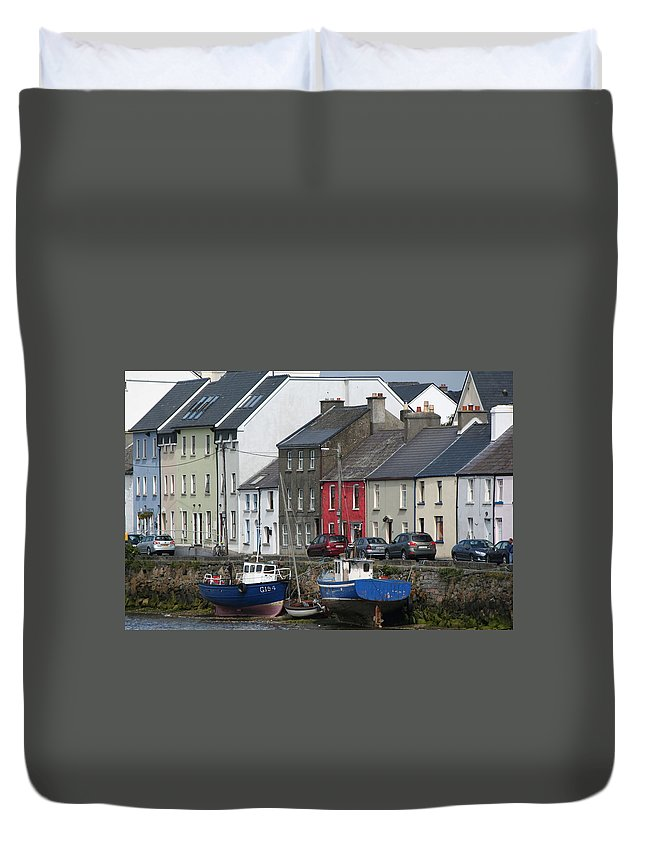 Galway Duvet Cover featuring the photograph City 0019 by Carol Ann Thomas
