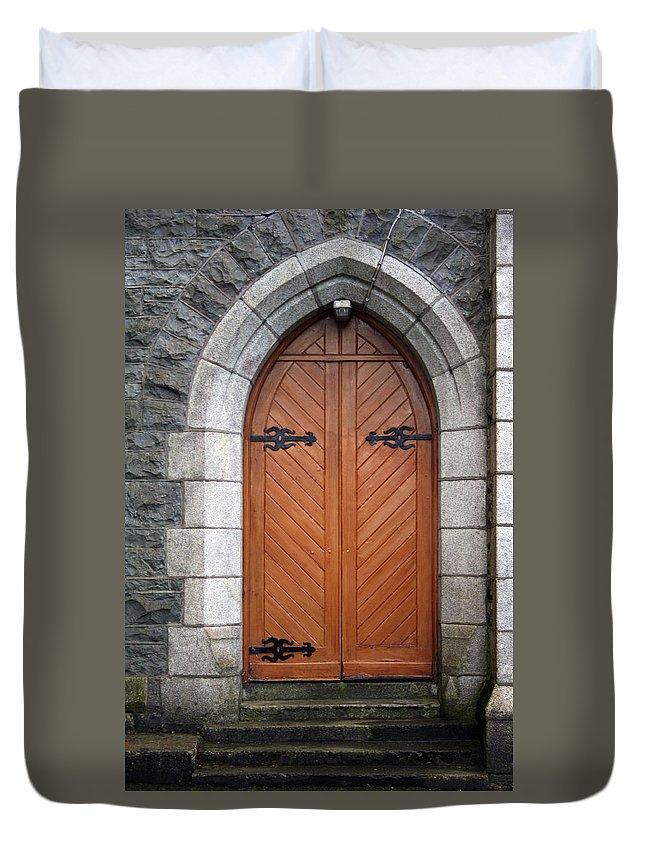 Church Duvet Cover featuring the photograph City 0030 by Carol Ann Thomas