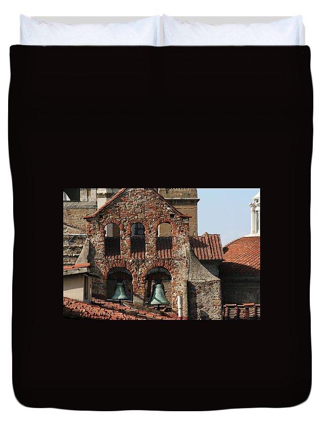 Florence Duvet Cover featuring the photograph City 0033 by Carol Ann Thomas