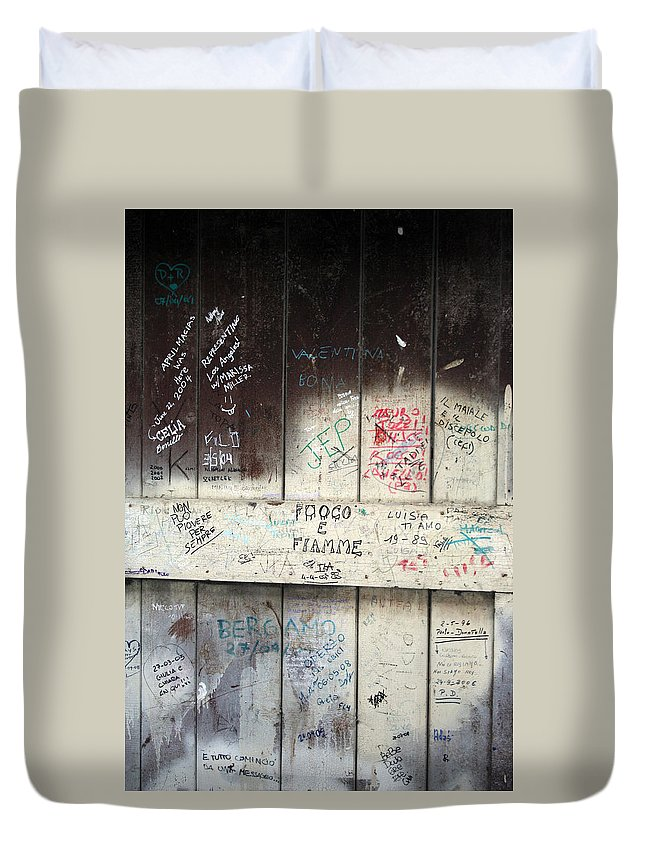 Door Duvet Cover featuring the photograph City 0039 by Carol Ann Thomas