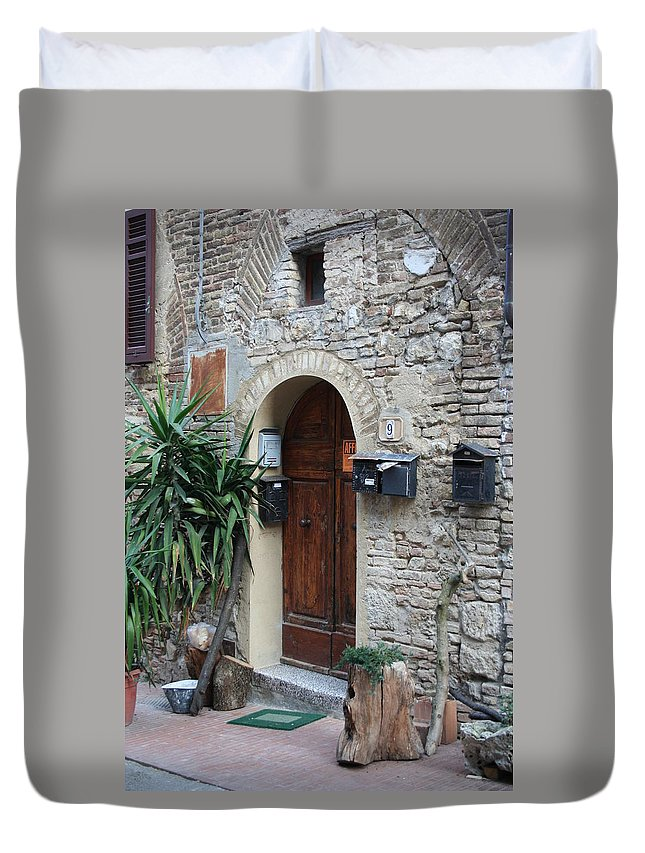 City Duvet Cover featuring the photograph City 0040 by Carol Ann Thomas