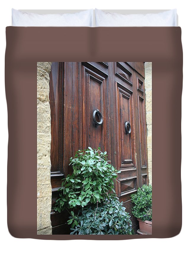 Door Duvet Cover featuring the photograph City 0041 by Carol Ann Thomas