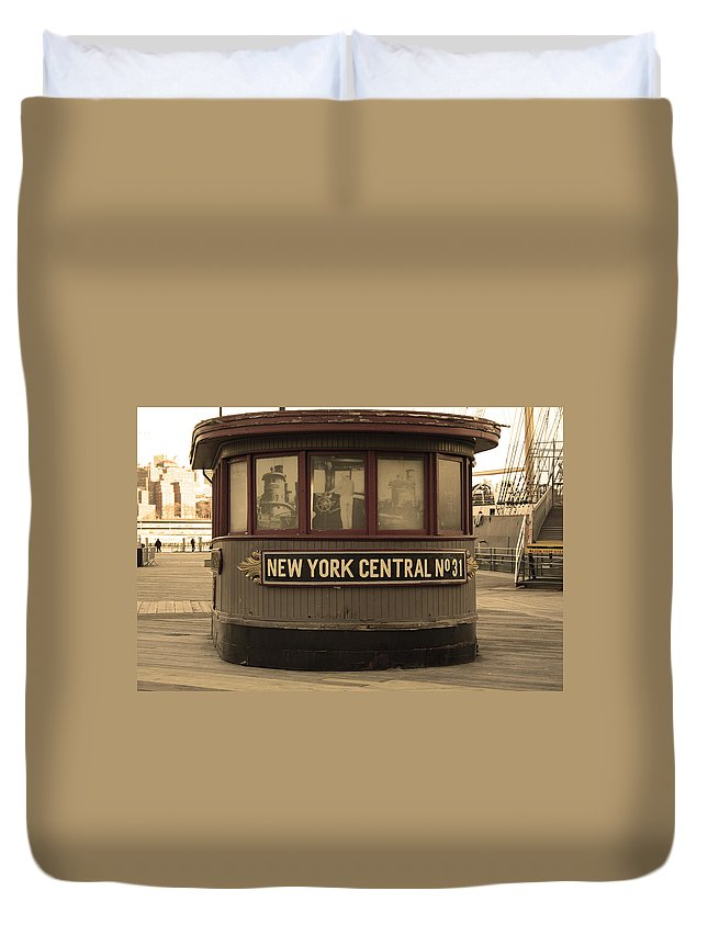 City Duvet Cover featuring the photograph City 0054 by Carol Ann Thomas