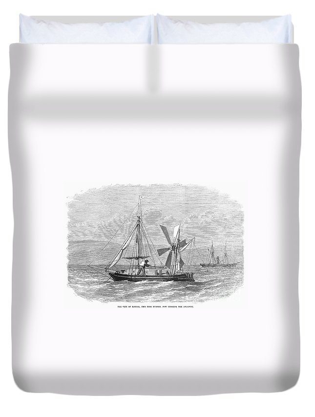 1870 Duvet Cover featuring the photograph City Of Ragusa, 1870 by Granger