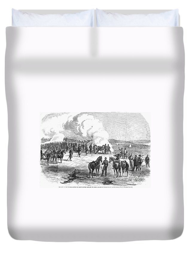 1862 Duvet Cover featuring the photograph Civil War: 7 Days Battles by Granger