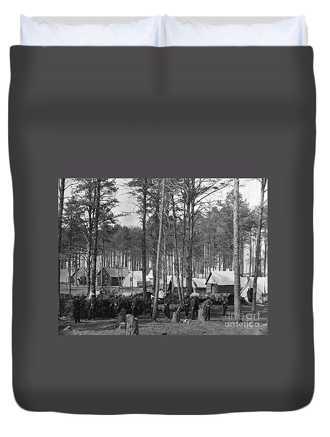 1864 Duvet Cover featuring the photograph Civil War: Union Camp, 1864 by Granger