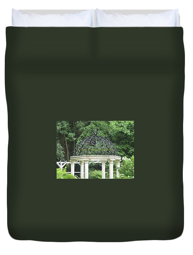 Bent Duvet Cover featuring the photograph Classic Arcade by Sonali Gangane