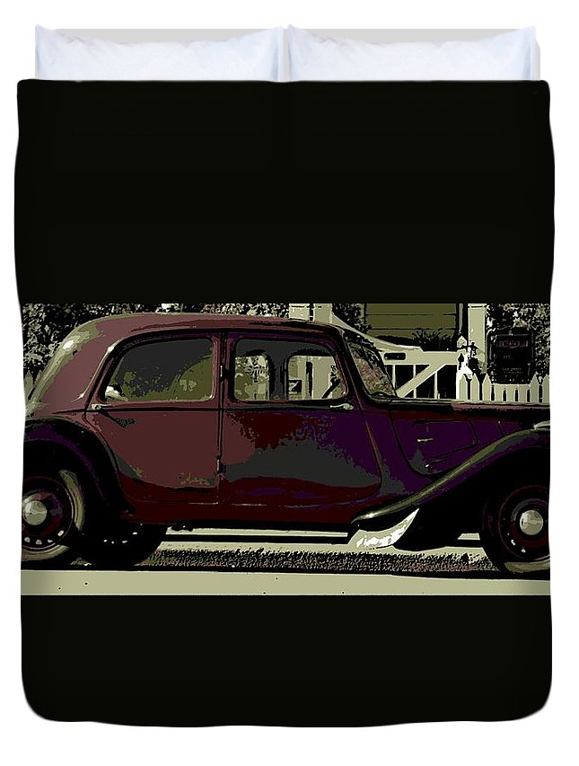 Citroen Duvet Cover featuring the photograph Classical French by George Pedro