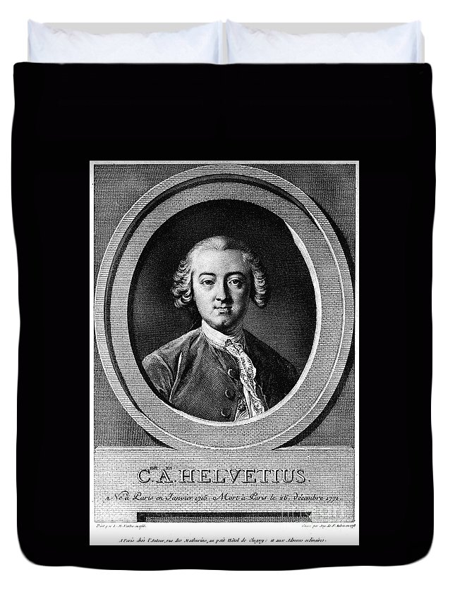 18th Century Duvet Cover featuring the photograph Claude Adrien Helvetius by Granger