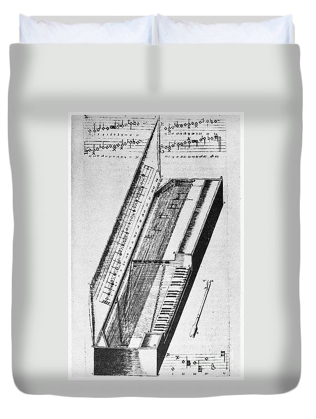 1636 Duvet Cover featuring the photograph Clavichord, 1636 by Granger