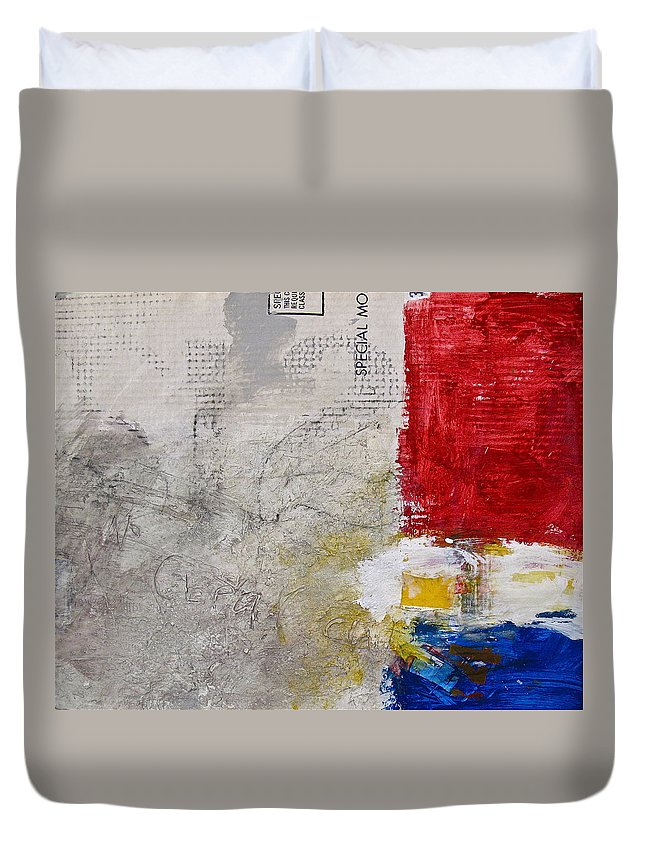 Abstract Painting Duvet Cover featuring the painting Clear Cut by Cliff Spohn