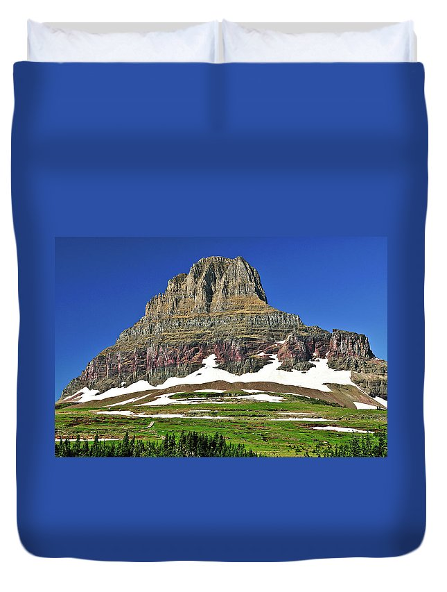 Clements Mountain Duvet Cover featuring the photograph Clements Mountain by Greg Norrell