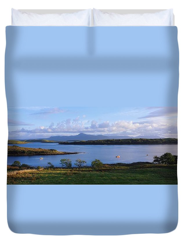 Clew Bay Duvet Cover featuring the photograph Clew Bay, Co Mayo, Ireland by The Irish Image Collection