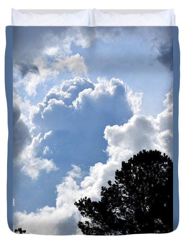 Clouds Duvet Cover featuring the photograph Cloud Power by Maria Urso