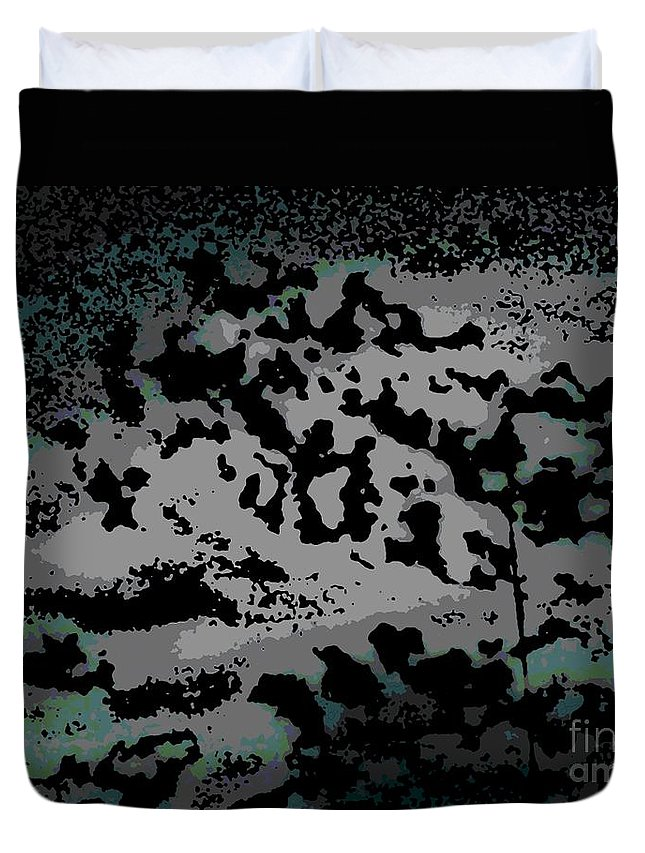 Abstract Duvet Cover featuring the digital art Clouded Thought by George Pedro
