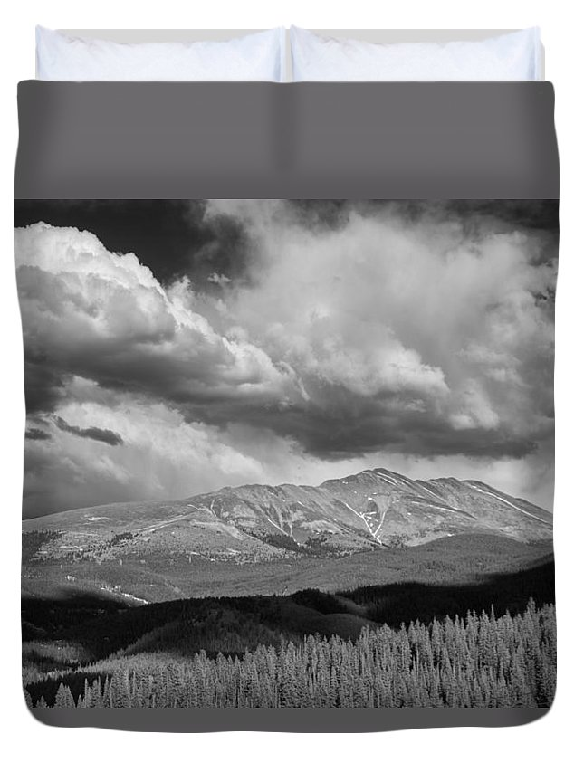 Art Duvet Cover featuring the photograph Clouds Over Breckenridge Colorado by Randall Nyhof