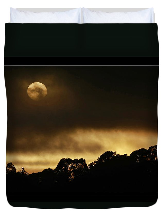 Art Photography Duvet Cover featuring the photograph Cloudy Sunset by Blake Richards