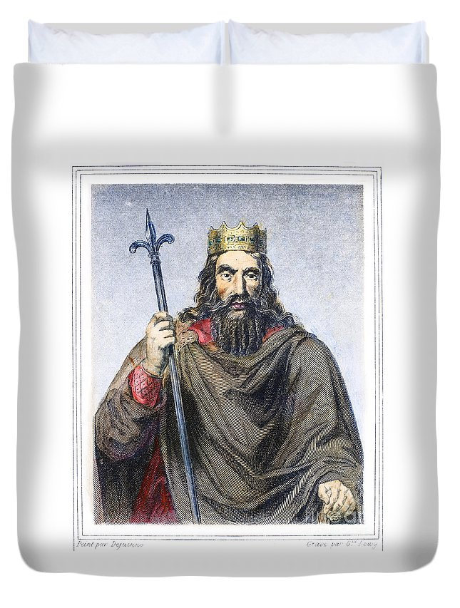 5th Century Duvet Cover featuring the photograph Clovis (c466-511) by Granger