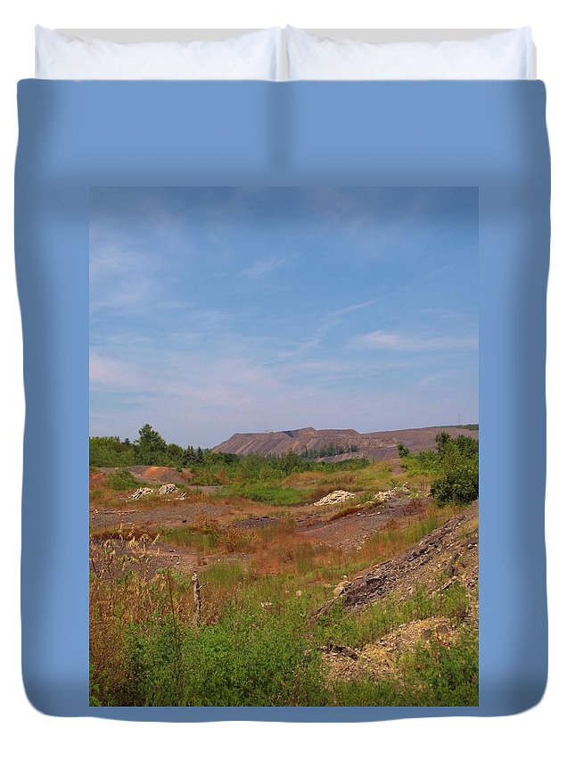 Centralia Pa Duvet Cover featuring the photograph Coal Region by Michele Nelson