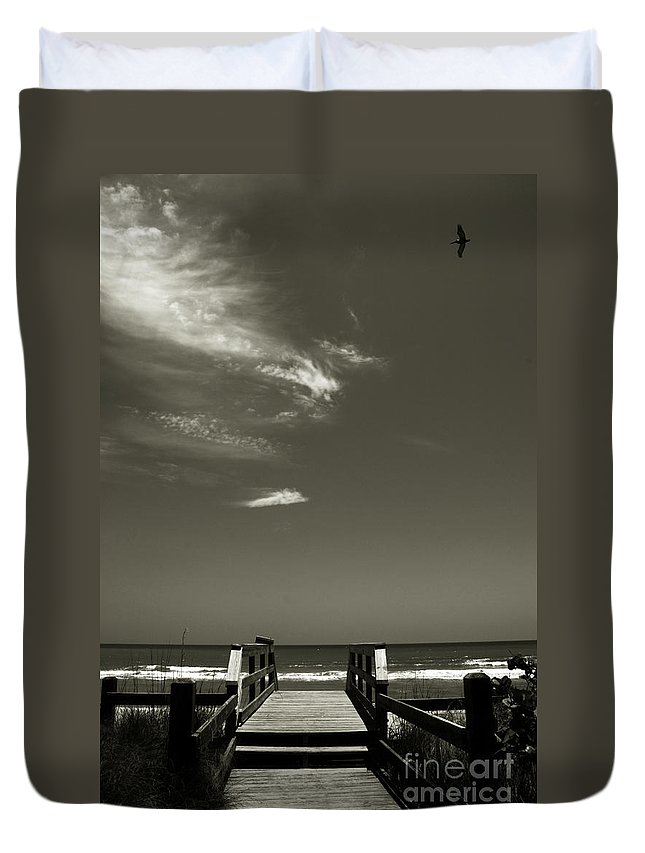 Beach Duvet Cover featuring the photograph Coconut Point Beach Fl by Susanne Van Hulst