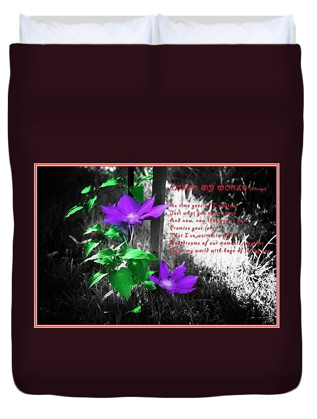 Color My World. Chicago Duvet Cover featuring the photograph Color My World by Bill Cannon