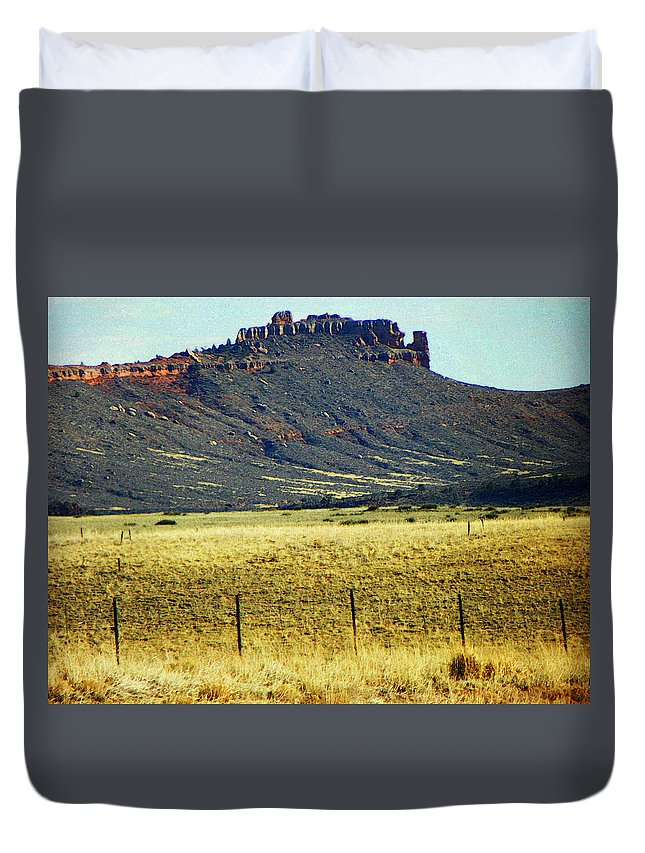 Abstract Duvet Cover featuring the photograph Colorado 1 by Lenore Senior