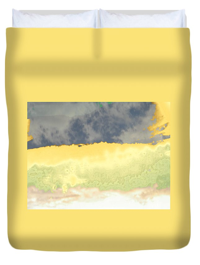Abstract Duvet Cover featuring the photograph Colorado Mist by Lenore Senior