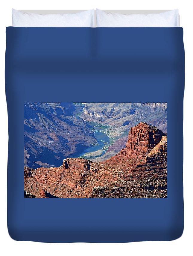 Colorado River Duvet Cover featuring the photograph Colorado River I by Julie Niemela
