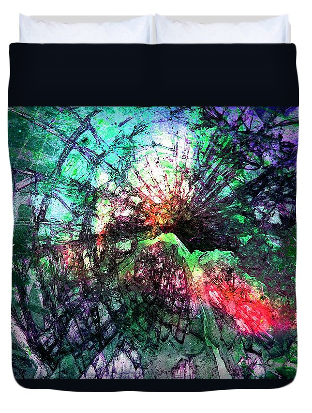 Art Duvet Cover featuring the photograph Colorful Abstract by Michele Cornelius