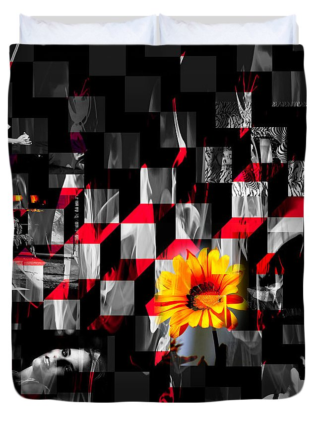 Clay Duvet Cover featuring the photograph Colorful Cubed Beauty by Clayton Bruster