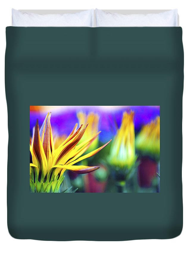 Colorful Duvet Cover featuring the photograph Colorful Flowers by Sumit Mehndiratta